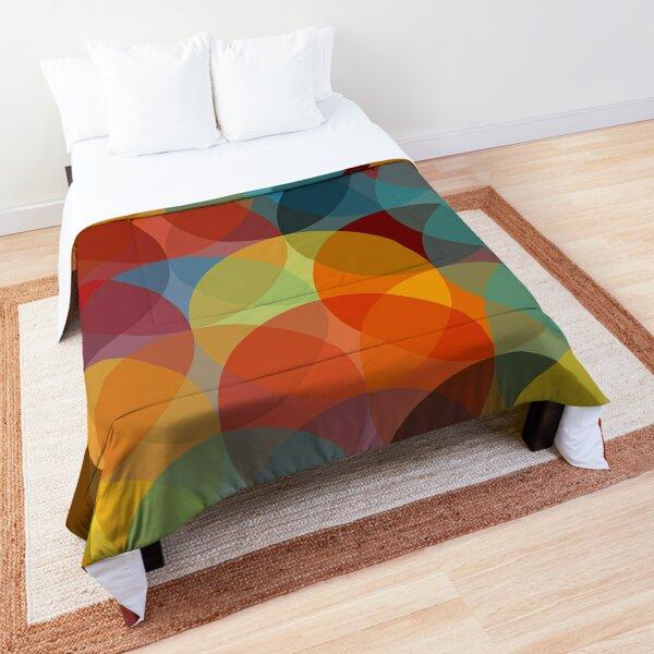 Mid Century Modern Circle Print 2 Comforter