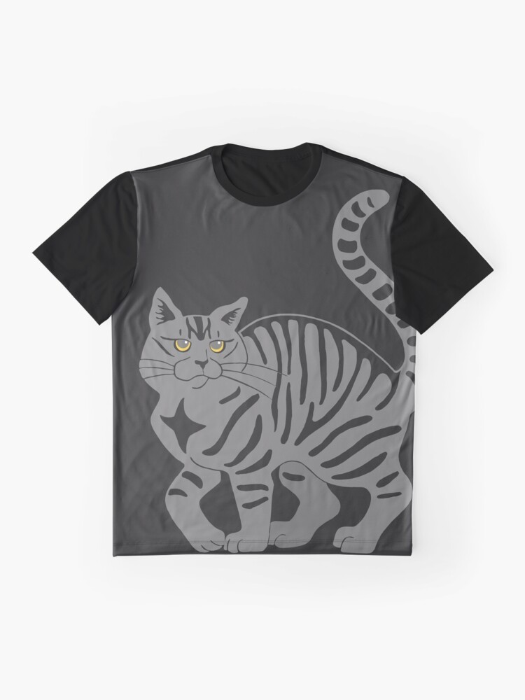 Alternate view of Gray Tabby Cat - tiger stripe Graphic T-Shirt
