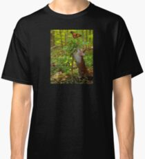 Cute Cat butterfly forest Classic T-Shirt
