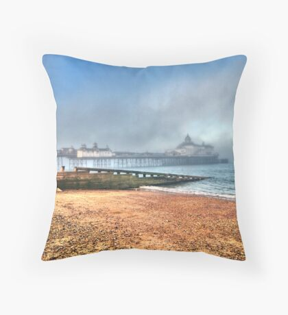 Eastbourne Pier: Caught In The Mist Throw Pillow