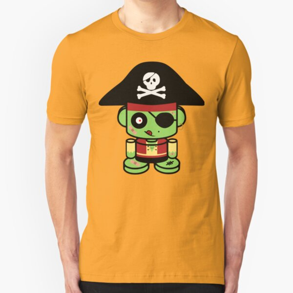 Pirate Zombie O'bot 2.0 Slim Fit T-Shirt