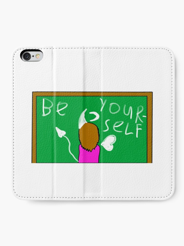 Alternate view of Be Yourself by JW iPhone Wallet