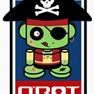 Pirate Zombie O'bot 2.1 by Carbon-Fibre Media