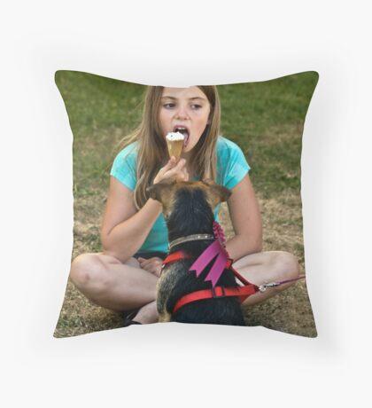 Watching Intently: Michelham Priory Throw Pillow
