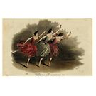 Ballet Dancers In A Beautiful Art Print  by MHirose