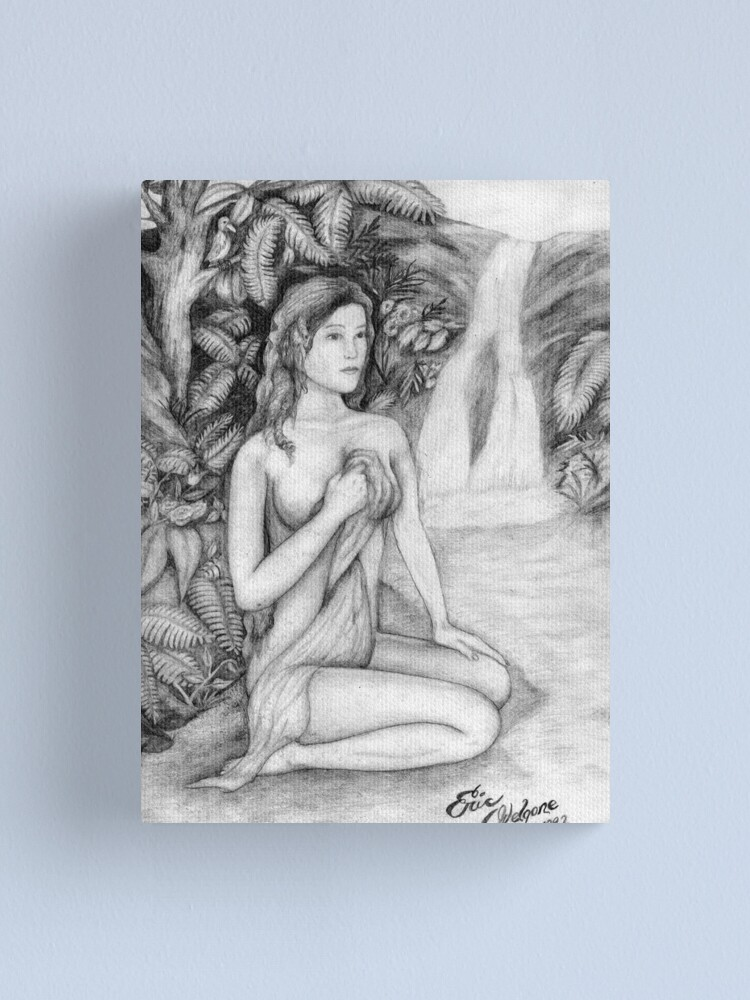 Alternate view of Venus Pencil Canvas Print