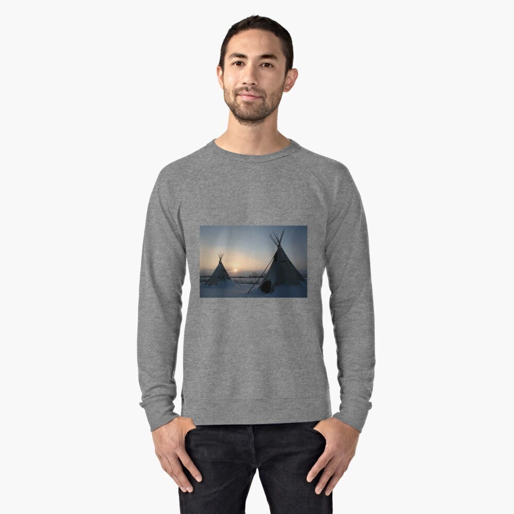 PLAINS CREE TIPI Lightweight Sweatshirt Front