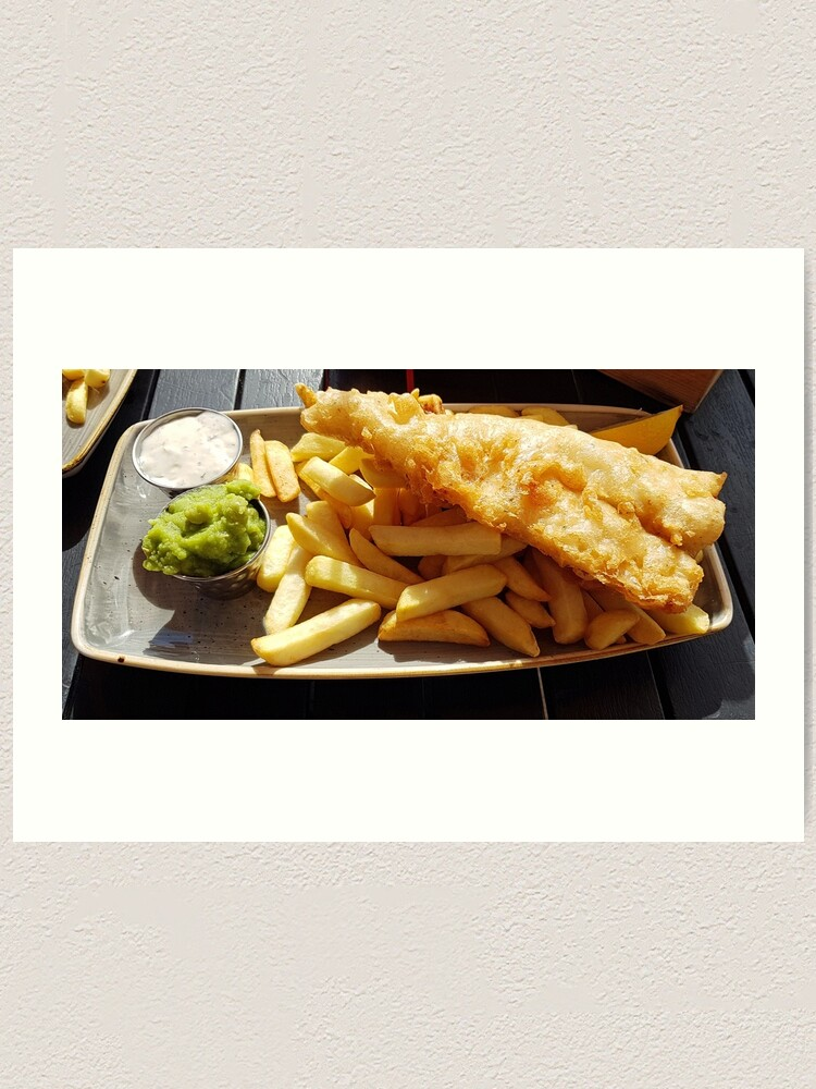 Alternate view of Fish chips and mushy peas Art Print