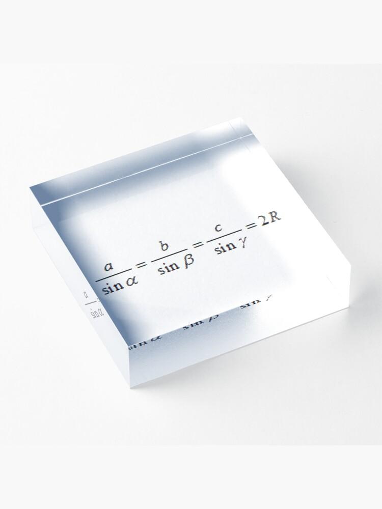 Alternate view of #SineLaw, #Angle, #Length, #Trigonometry, Math Formulas, Geometry Formulas Acrylic Block