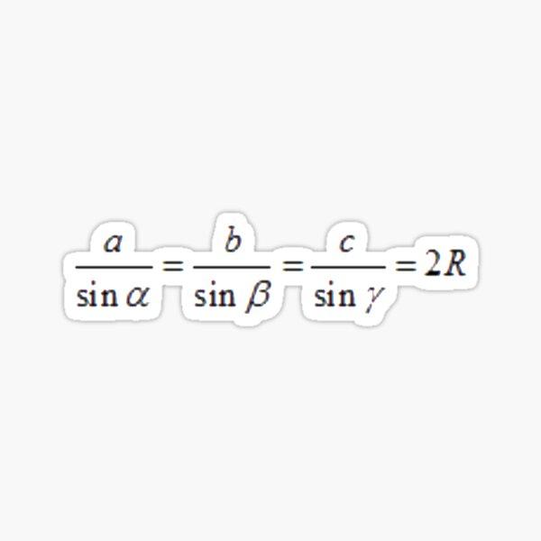 Math, #SineLaw, #Angle, #Length, #Trigonometry, Math Formulas, Geometry Formulas Sticker