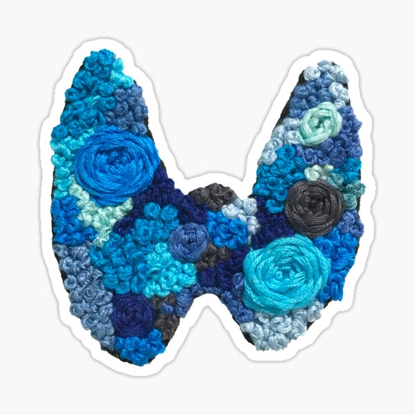 Thyroid Disease Awareness Embroidery Sticker