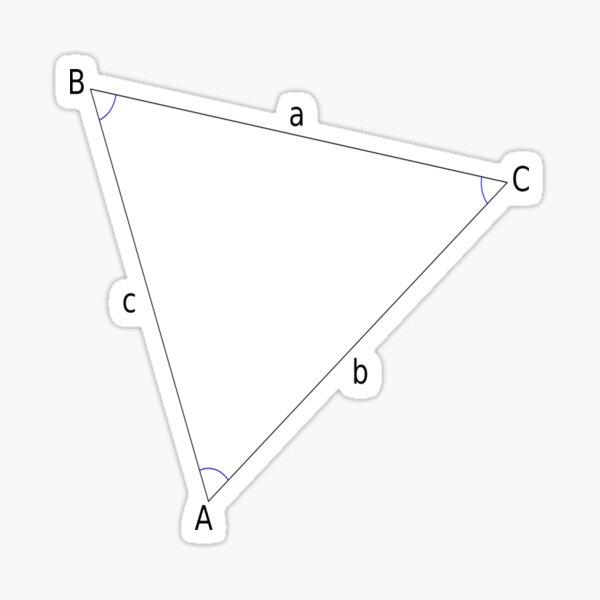 #Triangle, #Geometry, #Trigonometry, #Math Formulas, Law of Sines, Angles, Sides Sticker