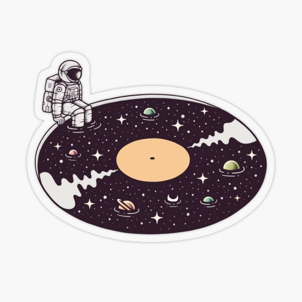 Cosmic Sound Transparent Sticker