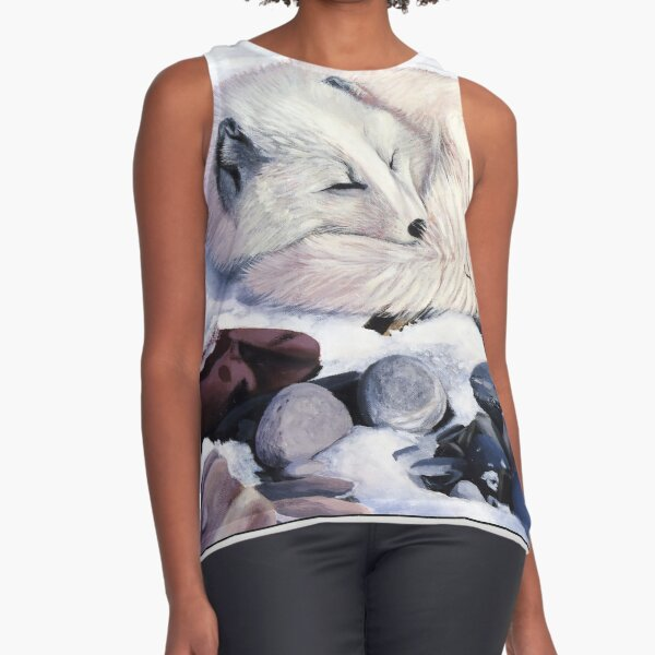 Creature Comforts - arctic fox Sleeveless Top