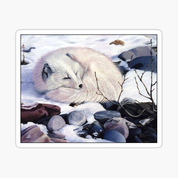 Creature Comforts - arctic fox Sticker