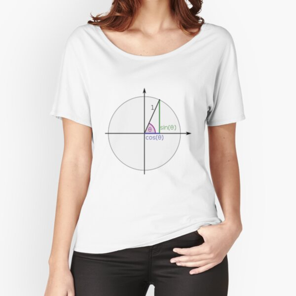 #Sine, #Cosine, #Triangle, #Geometry, Trigonometry, Math Formulas, Angles, Sides Relaxed Fit T-Shirt