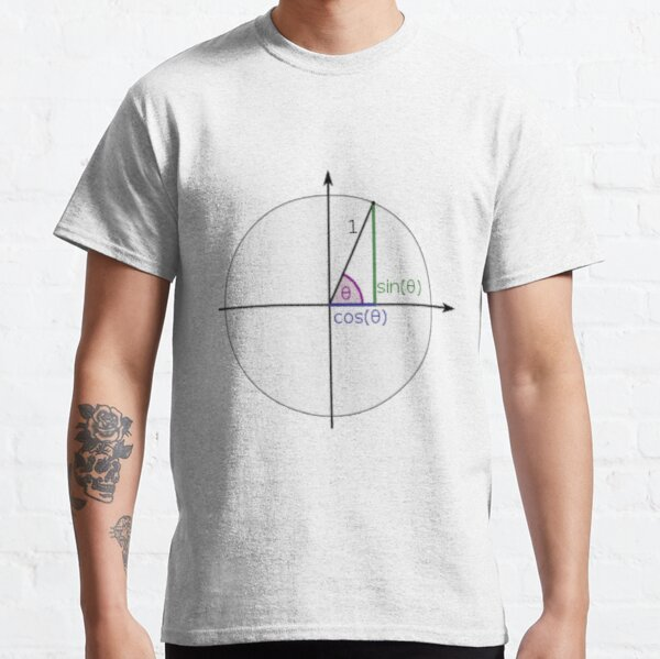 #Sine, #Cosine, #Triangle, #Geometry, Trigonometry, Math Formulas, Angles, Sides Classic T-Shirt