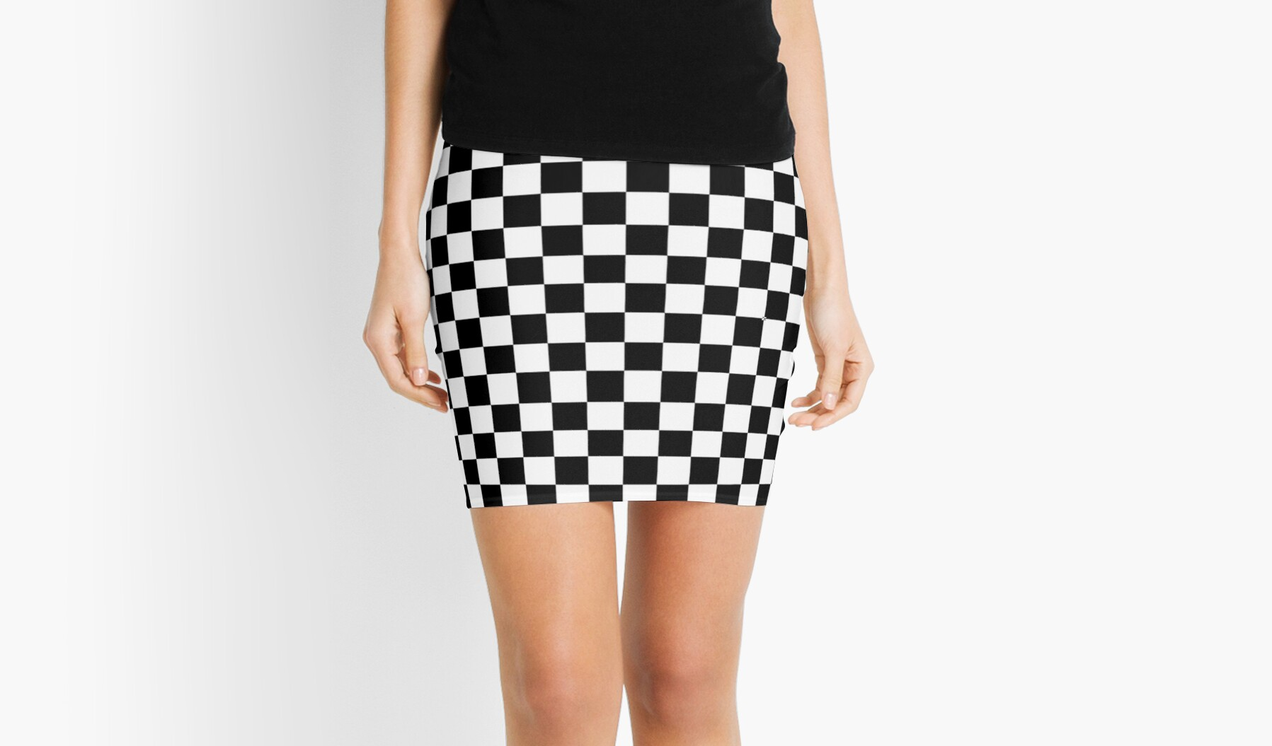 Checkered Black And White Skirt | Jill Dress