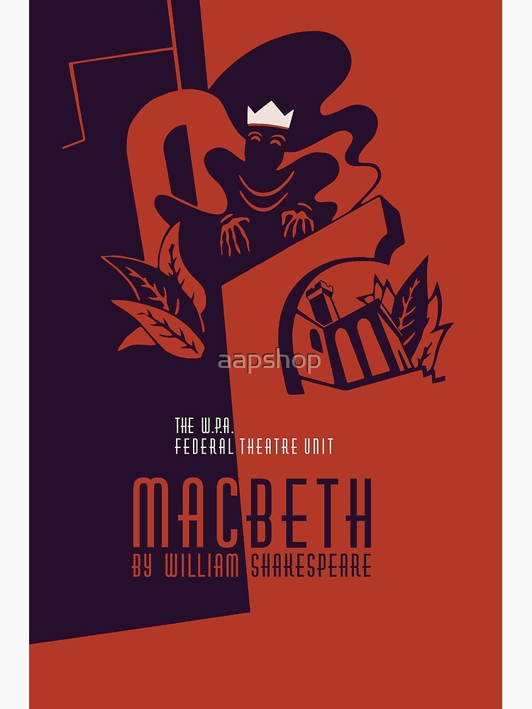 William Shakespeare Arte Foto impresión Poster Regalo Macbeth