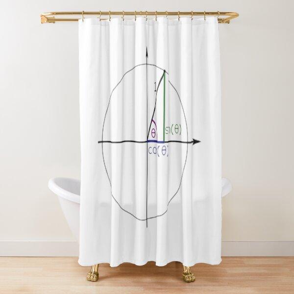 Math, #Sine, #Cosine, #Triangle, #Geometry, Trigonometry, Math Formulas, Angles, Sides Shower Curtain