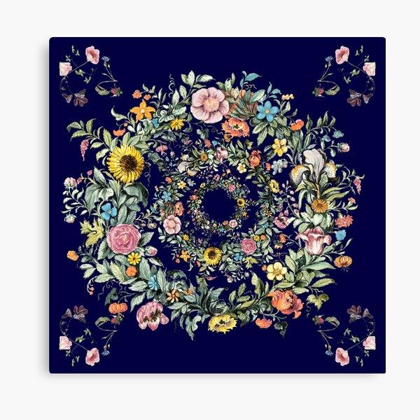 Circle of Life Dark Blue Canvas Print