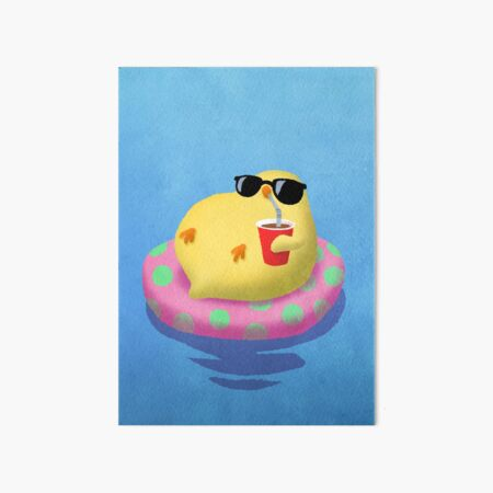 Chick on vacation Art Board Print