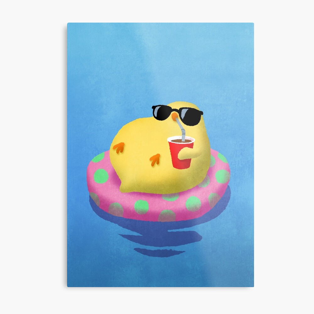 Chick on vacation Metal Print