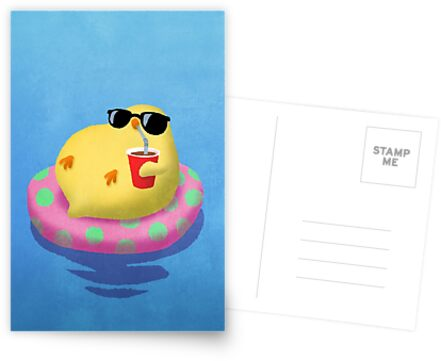 Chick on vacation by Iker Paz Studio