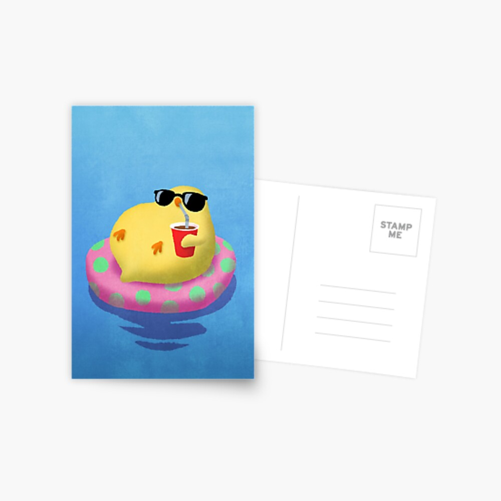 Chick on vacation Postcard