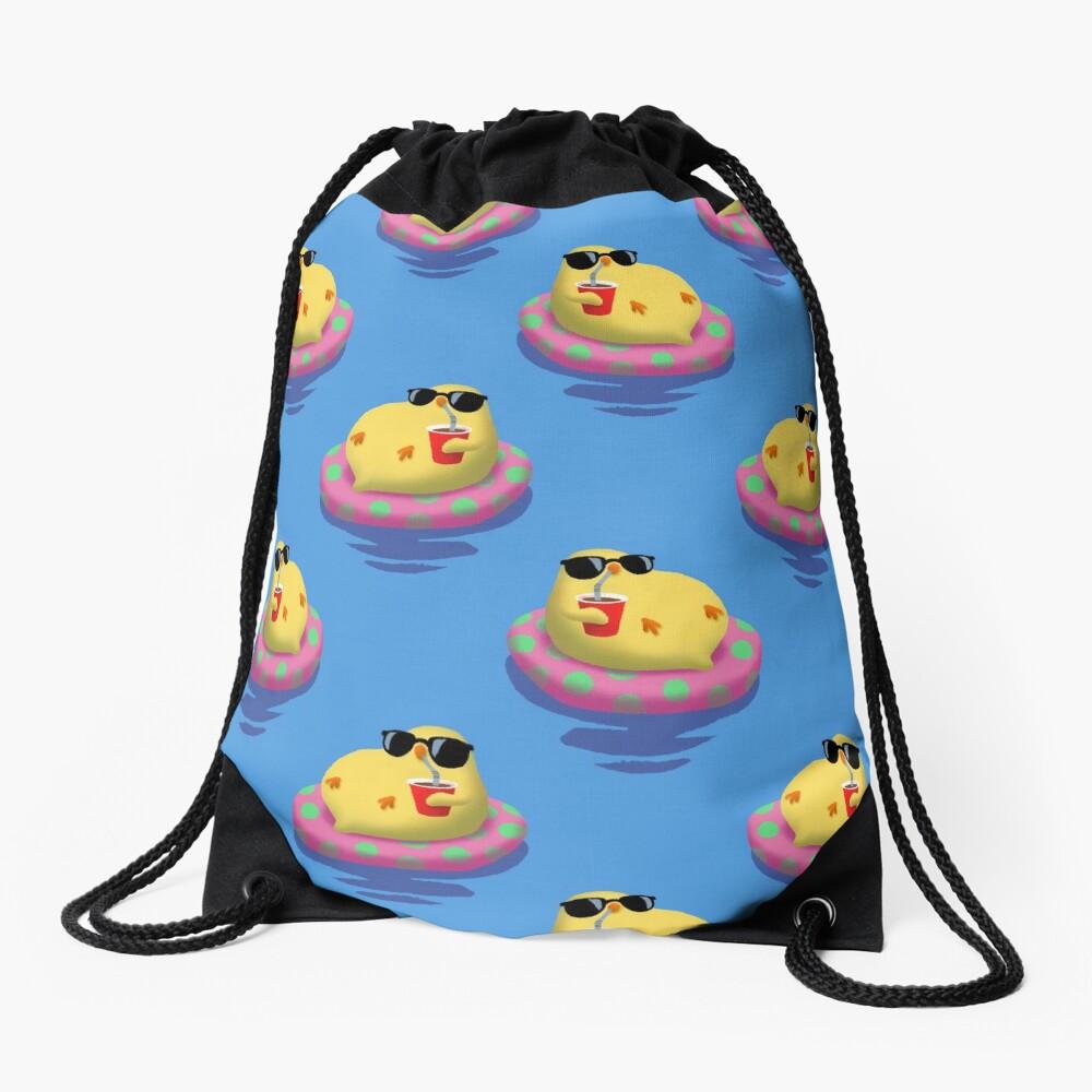 Chick on vacation Drawstring Bag