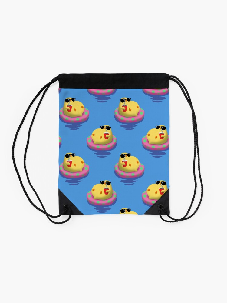 Alternate view of Chick on vacation Drawstring Bag