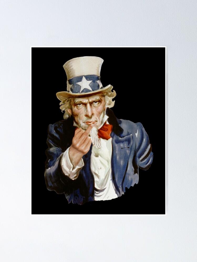 Poster ''Oncle Sam donnant le majeur': autre vue