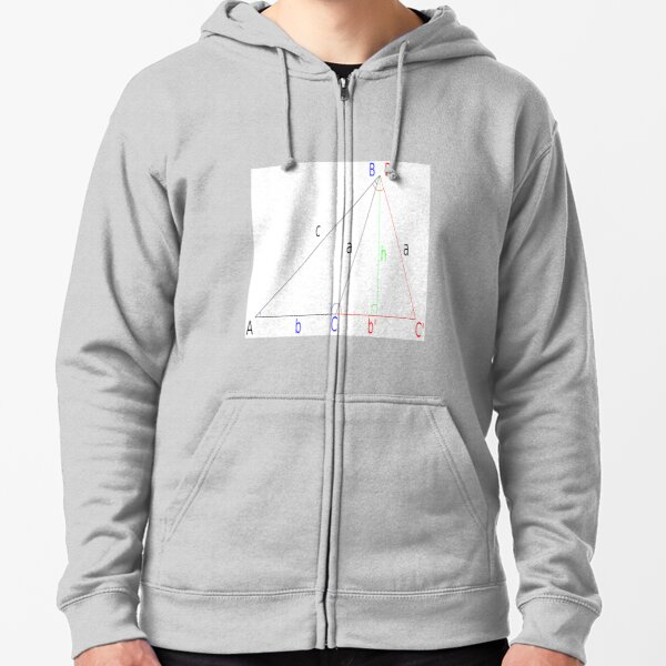 Mathematics, #Altitude, #Sine, #Cosine, #Triangle, Geometry, Trigonometry, Math Formulas, Angles Zipped Hoodie