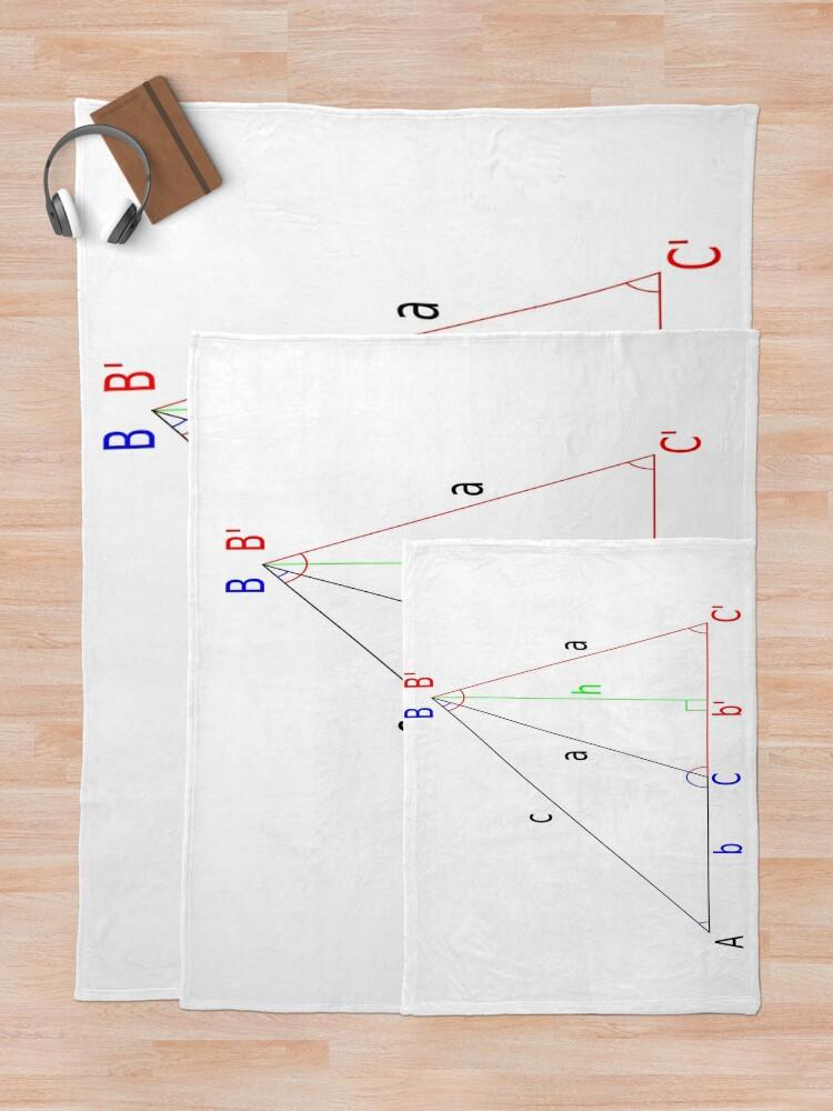 Alternate view of #Altitude, #Sine, #Cosine, #Triangle, Geometry, Trigonometry, Math Formulas, Angles Throw Blanket