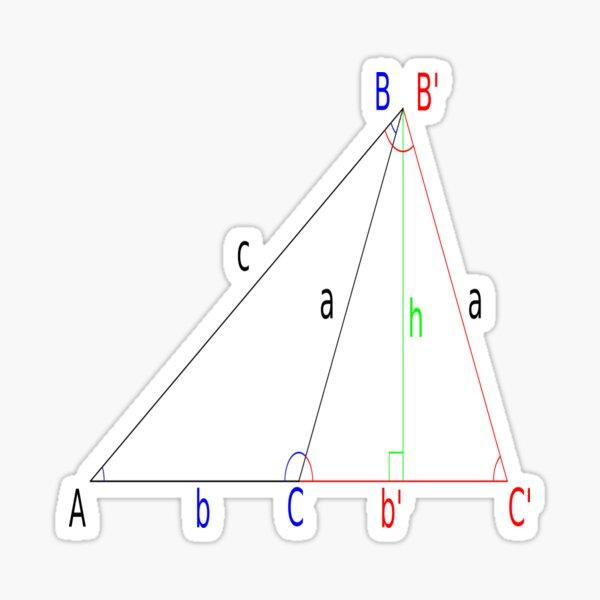 #Altitude, #Sine, #Cosine, #Triangle, Geometry, Trigonometry, Math Formulas, Angles Sticker