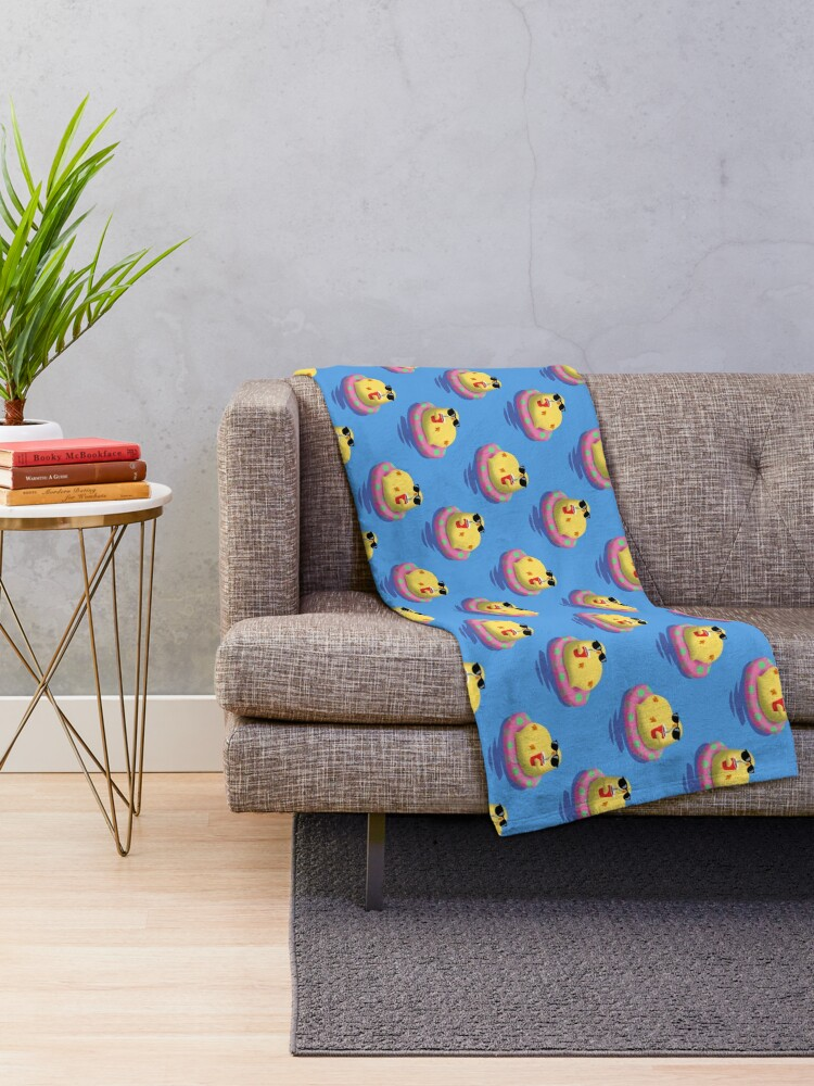 Alternate view of Chick on vacation Throw Blanket
