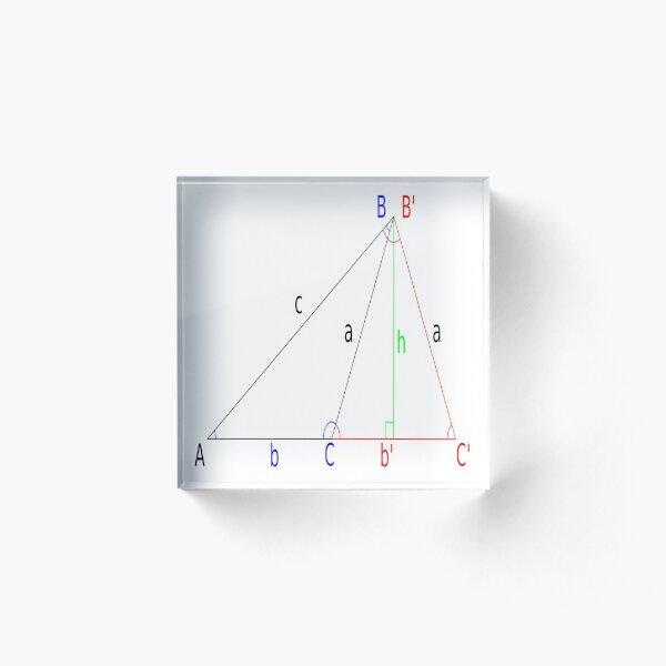 Math, #Altitude, #Sine, #Cosine, #Triangle, Geometry, Trigonometry, Math Formulas, Angles Acrylic Block