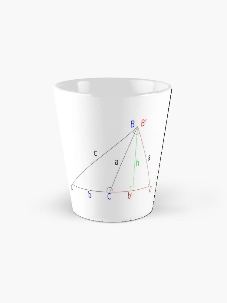 Alternate view of #Altitude, #Sine, #Cosine, #Triangle, Geometry, Trigonometry, Math Formulas, Angles Mug