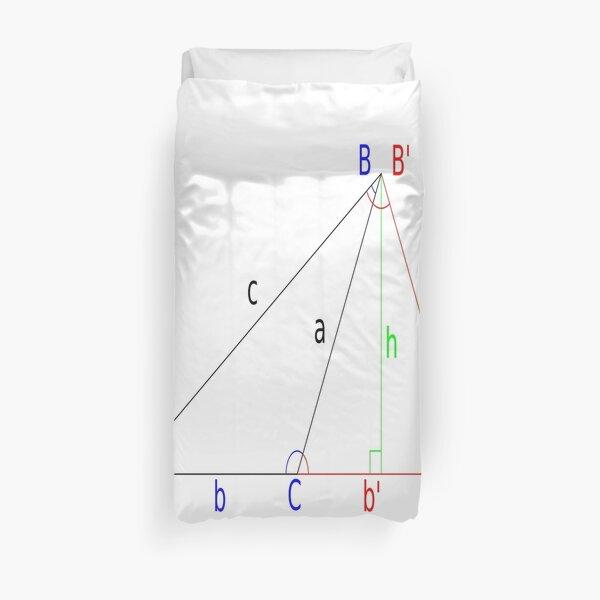 #Altitude, #Sine, #Cosine, #Triangle, Geometry, Trigonometry, Math Formulas, Angles Duvet Cover