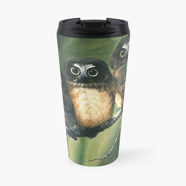 Saw Whet Owls Travel Mug
