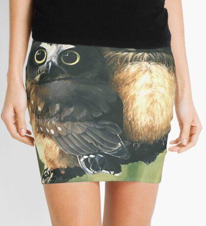 Saw Whet Owls Mini Skirt