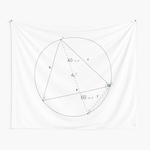 Math, #Circumscribing #Diameter, #Sine, #Cosine, Triangle, Geometry, Trigonometry, Math Formulas, Angles Tapestry