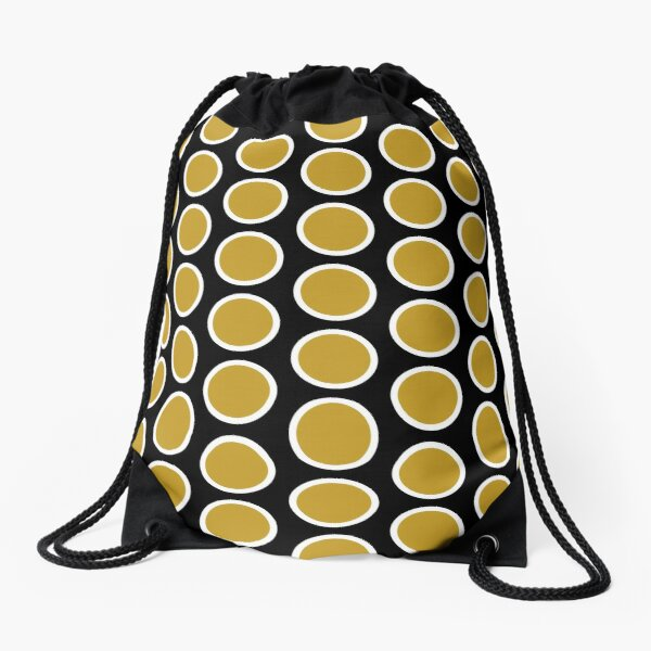 Yellow Dot Drawstring Bag