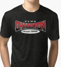 Pokemon Champion_Red_DarkBG Tri-blend T-Shirt
