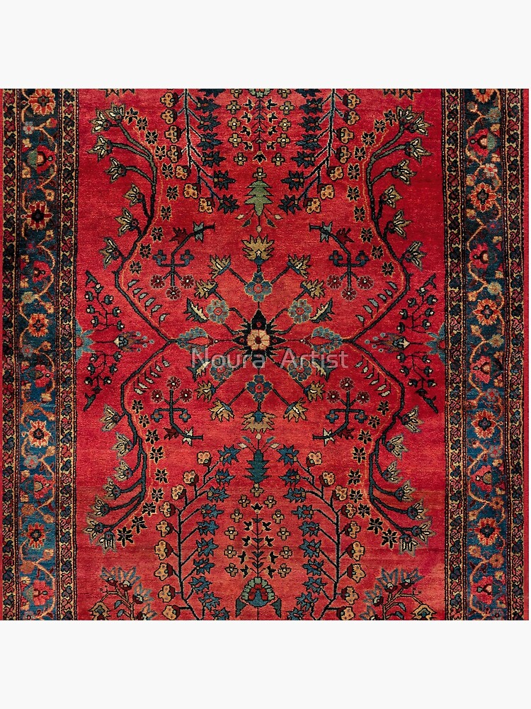 Red Persian Carpet - Persian Vintage Antique Carpet Nature Fine Art by del286