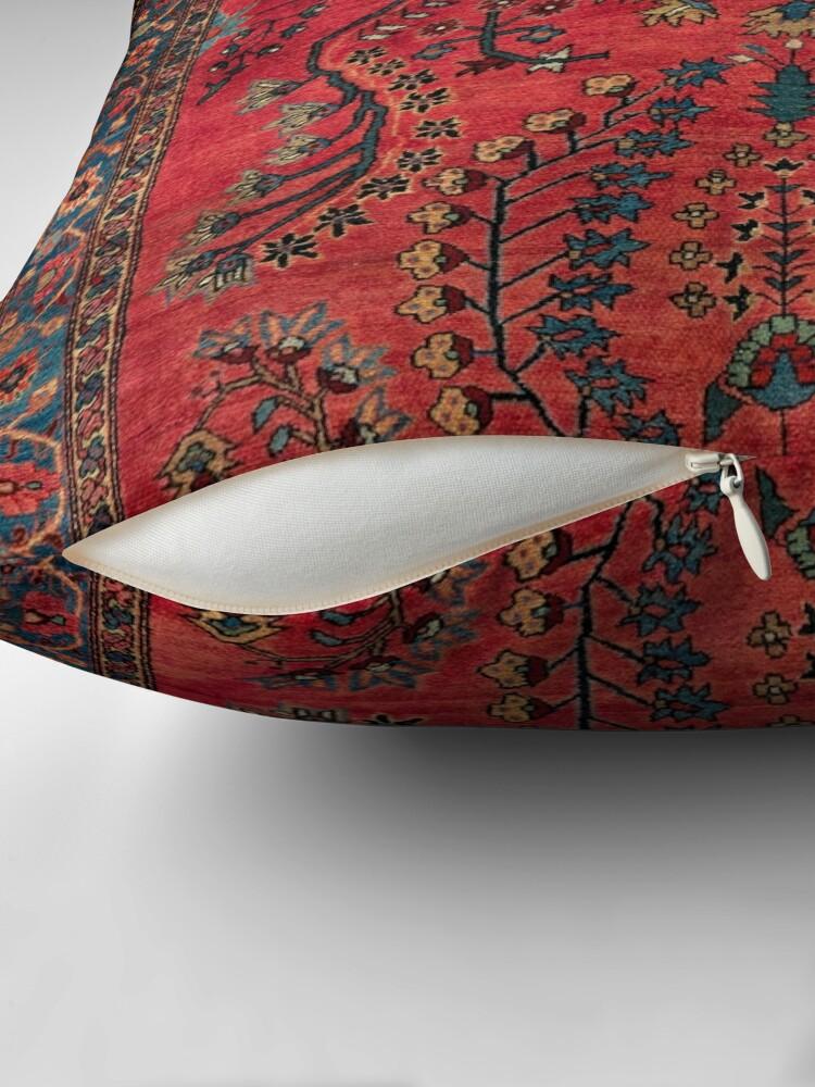 Alternate view of Red Persian Carpet - Persian Vintage Antique Carpet Nature Fine Art Throw Pillow