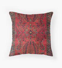 Red Persian Carpet - Persian Vintage Antique Carpet Nature Fine Art Throw Pillow