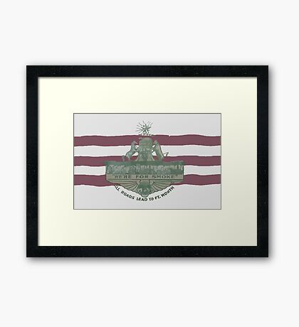 1912 Fort Worth Flag - We're For Smoke - All Roads Lead to Ft. Worth (Recolored) Framed Print