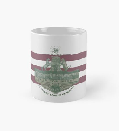 1912 Fort Worth Flag - We're For Smoke - All Roads Lead to Ft. Worth (Recolored) Mug
