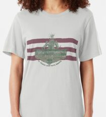 1912 Fort Worth Flag - We're For Smoke - All Roads Lead to Ft. Worth (Recolored) Slim Fit T-Shirt
